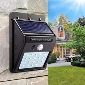 Lampu Solar Motion Sensor LED Light Taman Tenaga Surya PIR 20 Led