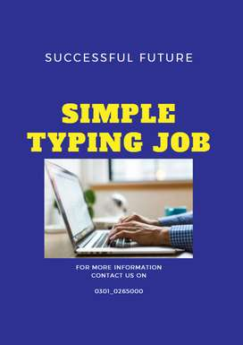 Fantastic Job opportunity for Youngster, Student - Simple Typing Job
