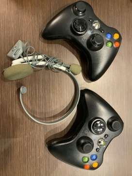 XBOX 360 controllers - 2.  And gaming headset