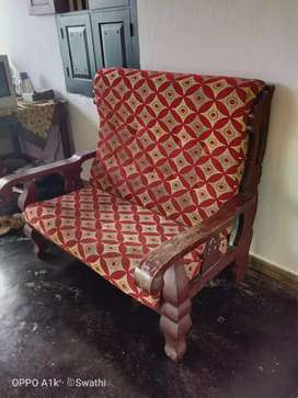 Good wood sofa
