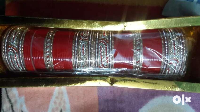 Bridal chura with kalare at low price shop 0