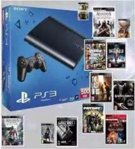 Ps3 500gb 1 YEAR WARRANTY  unlimited games bundle offer