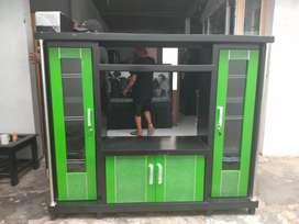 Bufet tv avanza murah teriplek tebal warna hijau hitam tv 32 inch