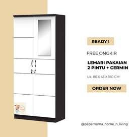 lemari Pakaian 2 pintu - Lemari baju Arion Series - Medan