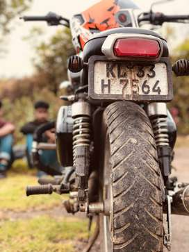 Royal Enfield 350 with greese house power exhaust