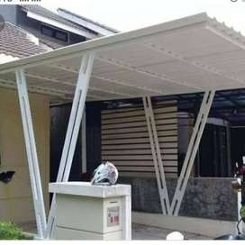 Canopy carport dan pagar besi custom