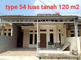 Rumah type 54 harga murah meriah di Jakabaring