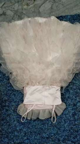 Used pretty gown light pink gown for kids