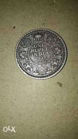 sell one rupee antique silver coin