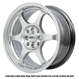 Velg Mobil Ring 16 Model YUZAWA Hsr pas buat Brio Agya Mazda2 Mobilio