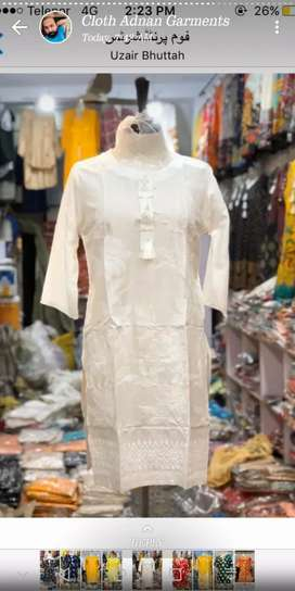 Arbi Lilan Kurti for Summer Season