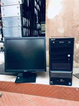 Full Fresh Condition Computer Set With 6 Month Replacement Guarantee