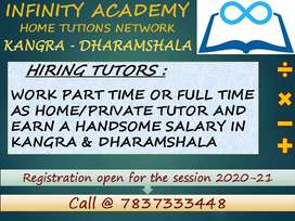 REQUIRED HOME TUTORS IN KANGRA, DHARAMSHALA
