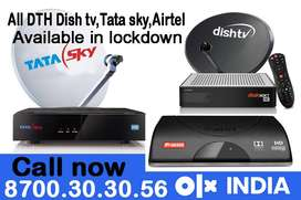 Dishtv Tatasky Airteltv : Airtel tv Tata sky Dish tv New HD connection
