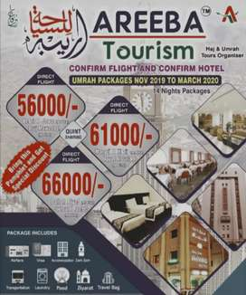 Hajj and Umrah tours organizer confirm flight and confirm hotel