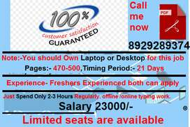 Double benefits of part time job montely payment. Easy & simple typing