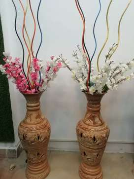 Flower pot with flowers like new