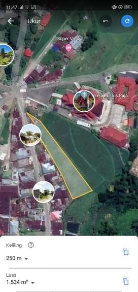 Tanah sawah Pusat Kota Dekat Gereja