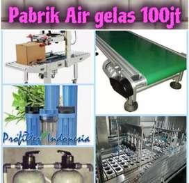 Jual Mesin pabrik amdk Air kemasan gelas 100jt Lengkap