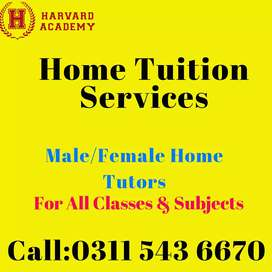 Home & Online Tutors(Kg to Masters),O/A levels,All subs (All over pak)