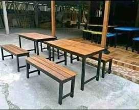 Meja satu set(satu meja 2 kursi)