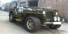 Army style open jeep
