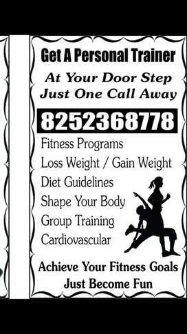 We r providing fitness trainer at your home.