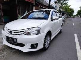 Toyota etios 1.2 tipe G Valco km.51rb manual MT 2013 pmk 2014 putih
