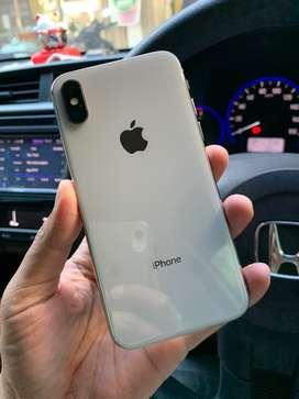 Iphone X 64gb Silver Fullset