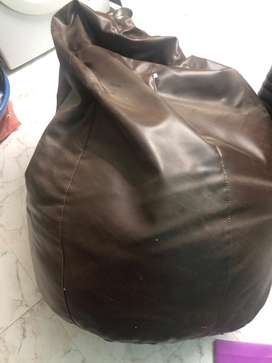 Thick leather Bean bag for sale