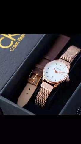 Jam tangan Calvin Klein cocok buat kado, water resistance+free strap