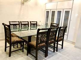 Pure Wood 8 Seater Dining Table and Chairs