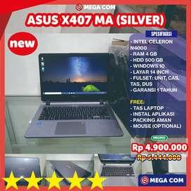 COD BISA, PROMO LAPTOP ASUS X407 RAM 4 GB 14 INCH NEW MURAH BERGARANSI