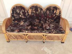 5 seater bamboo sofa with teapoy