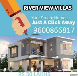 Gated community Luxury 3BHK River view House for sale in palakkad town