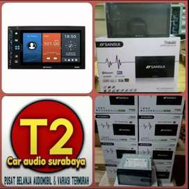 Ready stock dvd 2din SANSUI JAPAN android link led 7inc+camera hd
