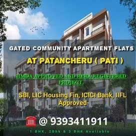 1,2Bhk Flats in Gated Community at Patancheru