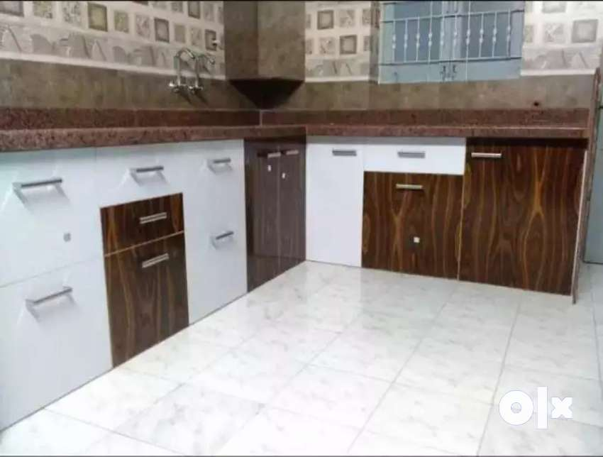 KAKA Pvc kitchen braon and white 0
