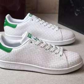 Original BNWB Sepatu Casual Adidas Stan Smith Weave White Green