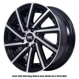 CASH/KREDIT VELG MOBILIO RING R16 HSR CIAO BLACK POLIH