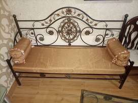 2  sofa in new design excellent condition with matress and pillows