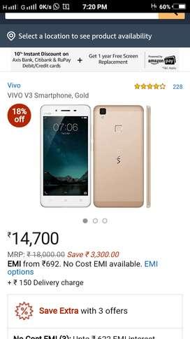 Vivo V3 gold