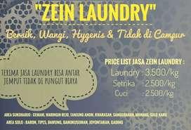 Zein laundry antar jemput gratis