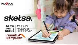 Advan Tab Sketsa 10 Inci Ram 4GB-ROM 32GB - Tab sketsa 10 FULLSET