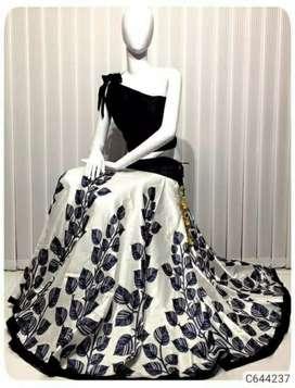 Trendy Banglori Silk Printed Partywear Lehenga Sets