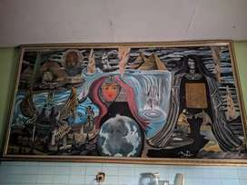 Jual lukisan 300cmx150cm