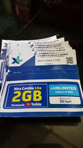 Xl 2gb unlimited telp dan sms