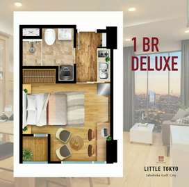 ONE BADROOM DELUXE LITTLE TOKYO APARTMENT ARCHITEC JEPANG FULLFURNISH