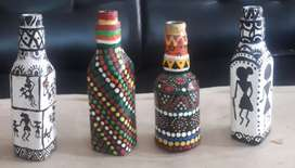 Homemade Decorative Bottles with Art