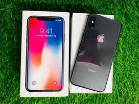 iPhone X - 64 GB - Gray black - full kit - 100% condition - warranty